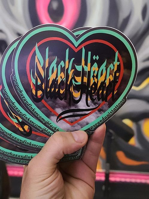 Sean Davis - Black Heart Sticker