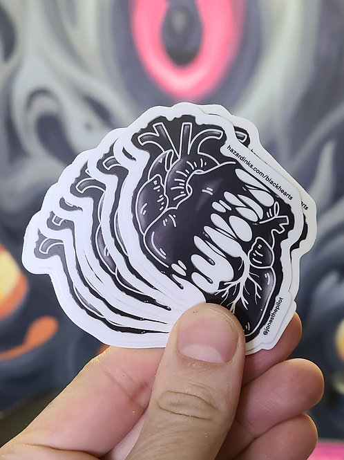 Salem - Black Heart Sticker