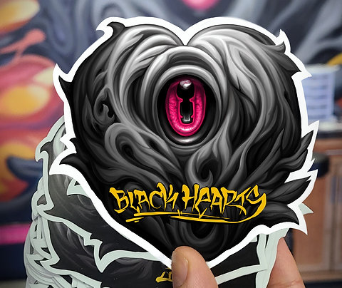 Black Heart Sticker