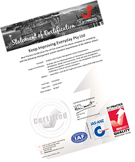 ISO 9001 Quality Best Practice Certificate