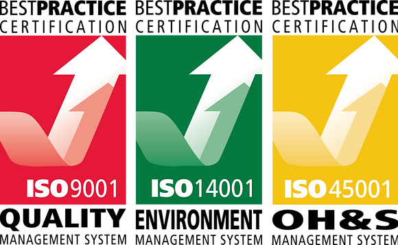 IMS Stickers - ISO 9001, ISO 14001, ISO 45001- Pack of 10
