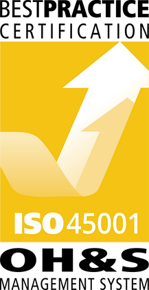 ISO 45001 Sticker - Pack of 10