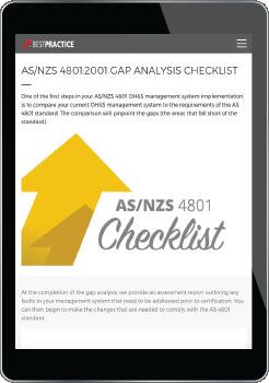 AS/NZS 4801 Gap Analysis Checklist link to Best Practice Training Academy