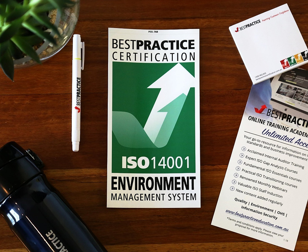 ISO14001 Certification with Best Practice Certification