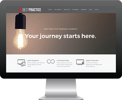 Best Practice Training Academy Homepage with link