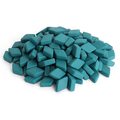 Diamond Mosaic Tile Pieces - Caribbean Current - Matte - Front View