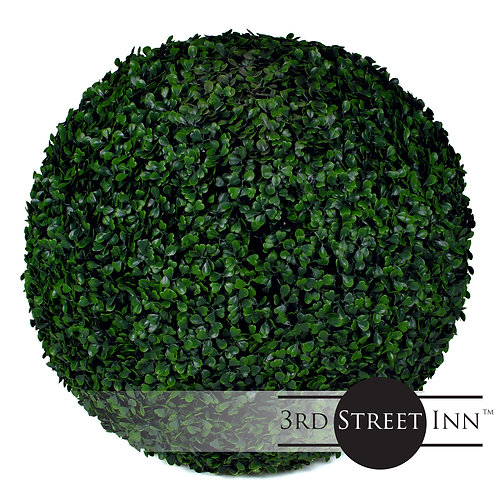 XL Artificial Boxwood Topiary Ball Front View