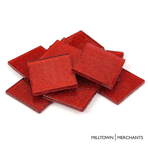 Red Glitter Tile 20mm
