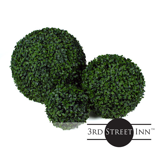 Medium Boxwood Topiary Ball Assortment Front View