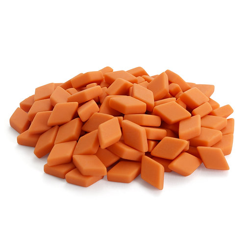 Diamond Mosaic Tile Pieces - Pumpkin Peel - Matte - Front View