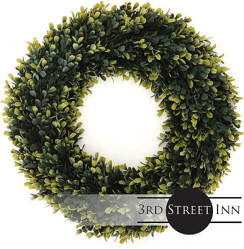 Golden Boxwood Wreath Extra Large Front View