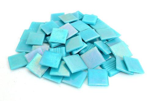 Iridescent Blue Mosaic Tile - 3/4 Inch