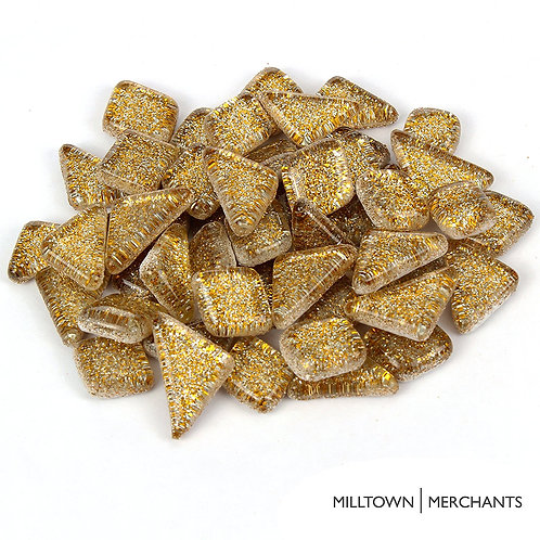 Gold Glitter Smooth Mosaic Tile