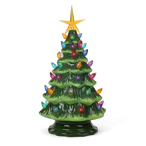Green Ceramic Christmas Tree - Medium