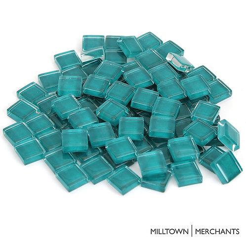 Mermaid Blue Crystal Mosaic Tile - 4/10 Inch