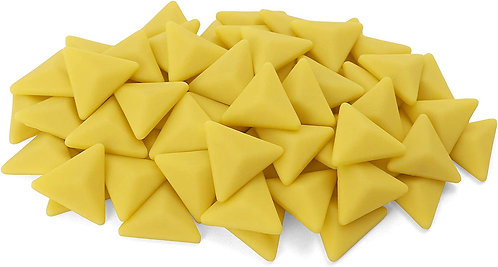 Triangle Mosaic Tile Pieces - Mellow Yellow - Matte - Front View
