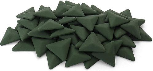 Triangle Mosaic Tile Pieces - Cedar Green - Matte - Front View