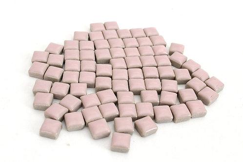 Baby Pink Ceramic Mini Tile - 4/10 Inch