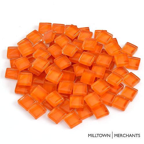 Orange Crystal Mosaic Tile - 4/10 Inch