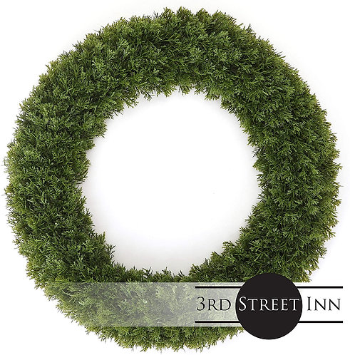 Cypress Wreath Extra Large Front View