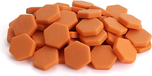 Hexagon Mosaic Tile Pieces - Pumpkin Peel - Matte - Front View