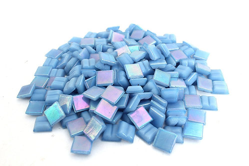 Iridescent Baby Blue Mosaic Tile - 4/10 Inch