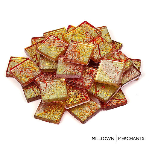 Orange-Yellow Foil Tile 20mm