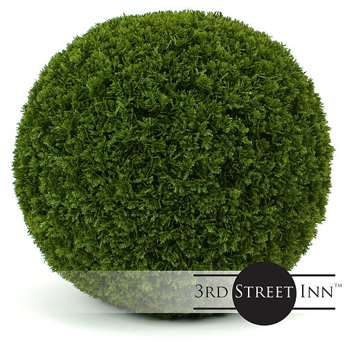 XL Cypress Artificial Topiary Ball Front View