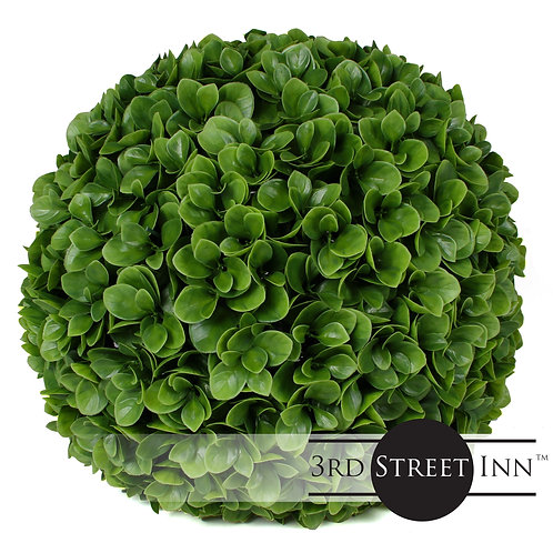 """15"""" Large Jasper Artificial Topiary Ball Front View"""