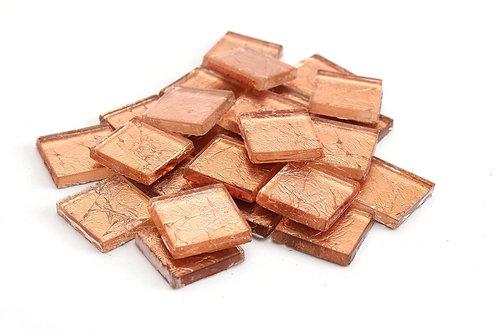 Copper 3/4 Inch Foil Mosaic Tile
