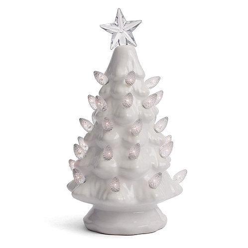 White Ceramic Christmas Tree - Small