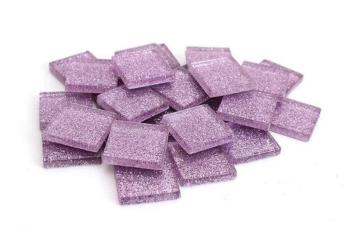 Light Purple Glitter Mosaic Tile - 3/4 Inch