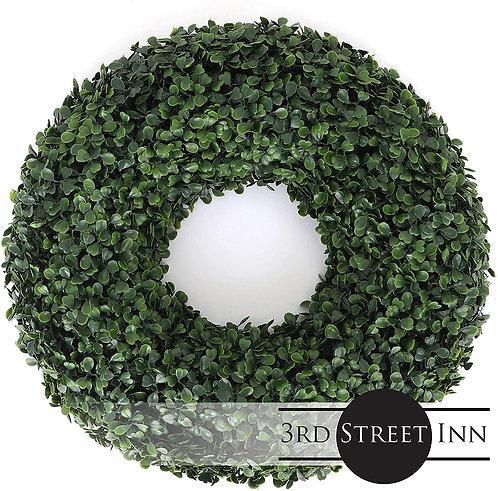 Boxwood Wreath Medium Front View