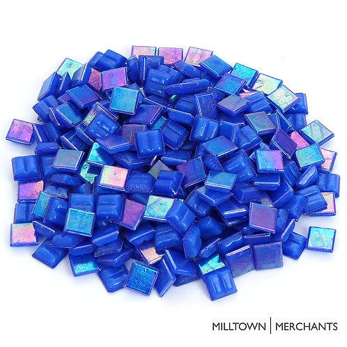 Iridescent Deep Sea Blue Mosaic Tile - 4/10 Inch