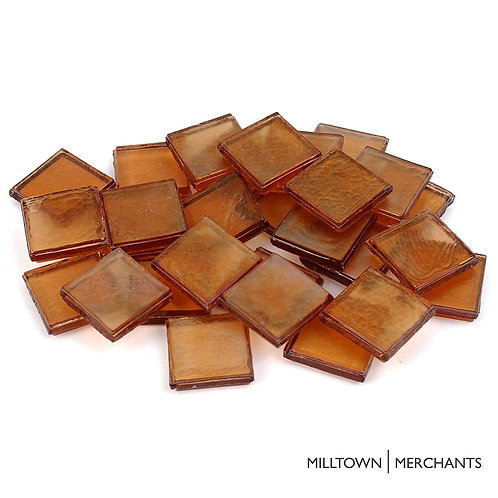 Amber Iridescent Tile 22mm