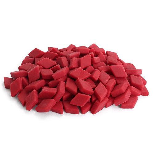 Diamond Mosaic Tile Pieces - Raspberry - Matte - Front View