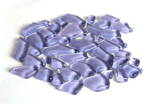 Light Purple Smooth Mosaic Pieces