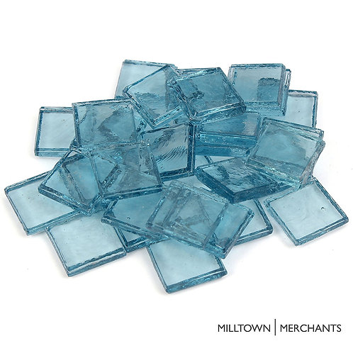 Ocean Blue Transparent Tile 22mm