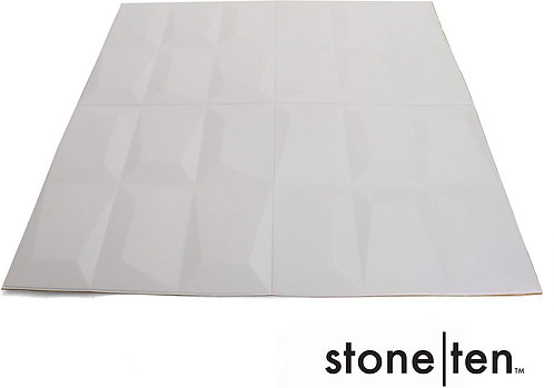 White Graphic Geometric Foam  Panels - Front View