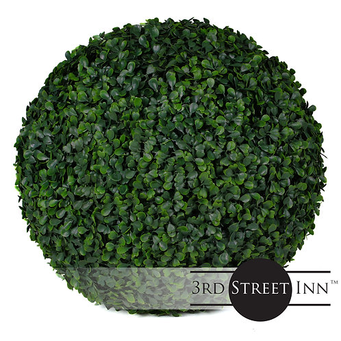 Large Artificial Boxwood Topiary Balls Front View