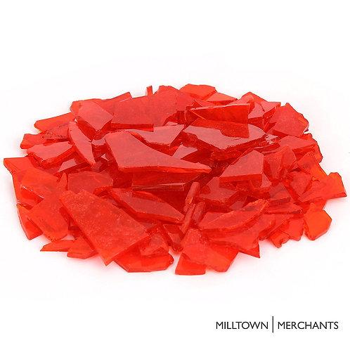 Transparent Orange Glass Cobbles