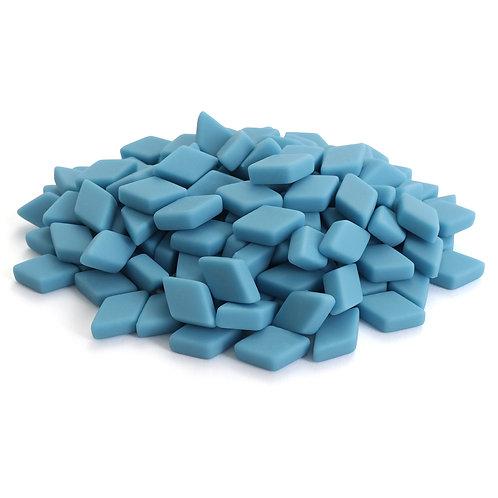 Diamond Mosaic Tile Pieces - Hawaiian Blue - Matte - Front View