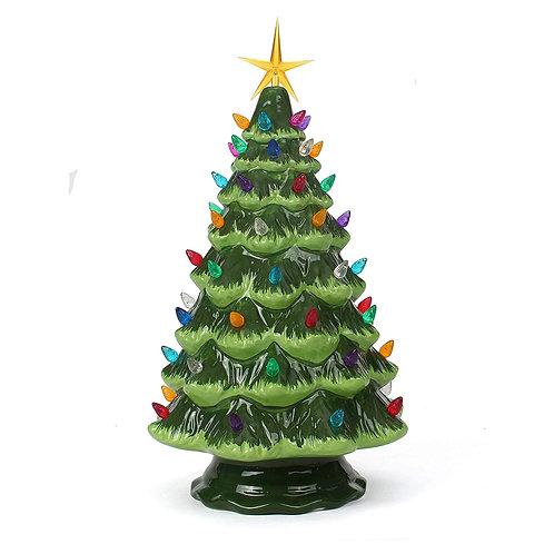 Green Ceramic Christmas Tree - Large