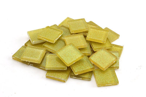 Sunny Yellow Glitter Mosaic Tile - 3/4 Inch