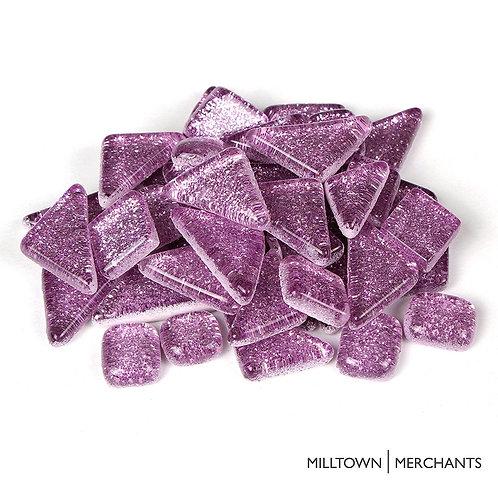 Light Purple Glitter Smooth Mosaic Tile