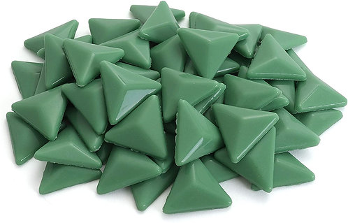 Triangle Mosaic Tile Pieces - Mint Cookie - Glossy - Front View