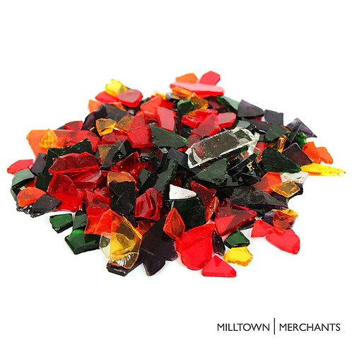 Transparent Multicolored Glass Cobbles