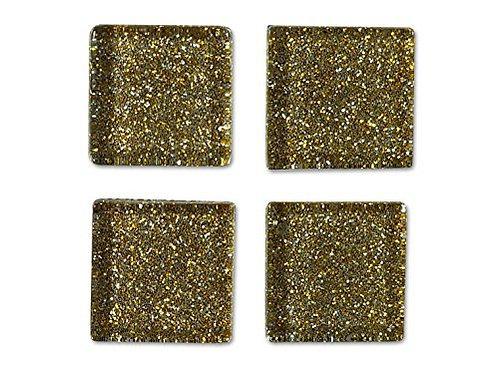 Light Brown Glitter Mosaic Tile - 3/4 Inch