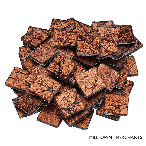 Bronze 3/4 Inch Foil Mosaic Tile