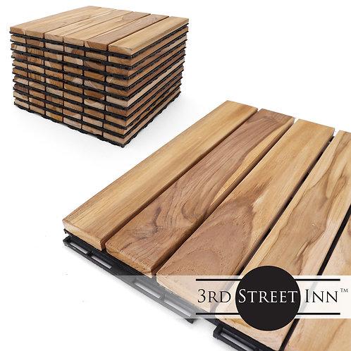 Teak Straight Deck Tiles